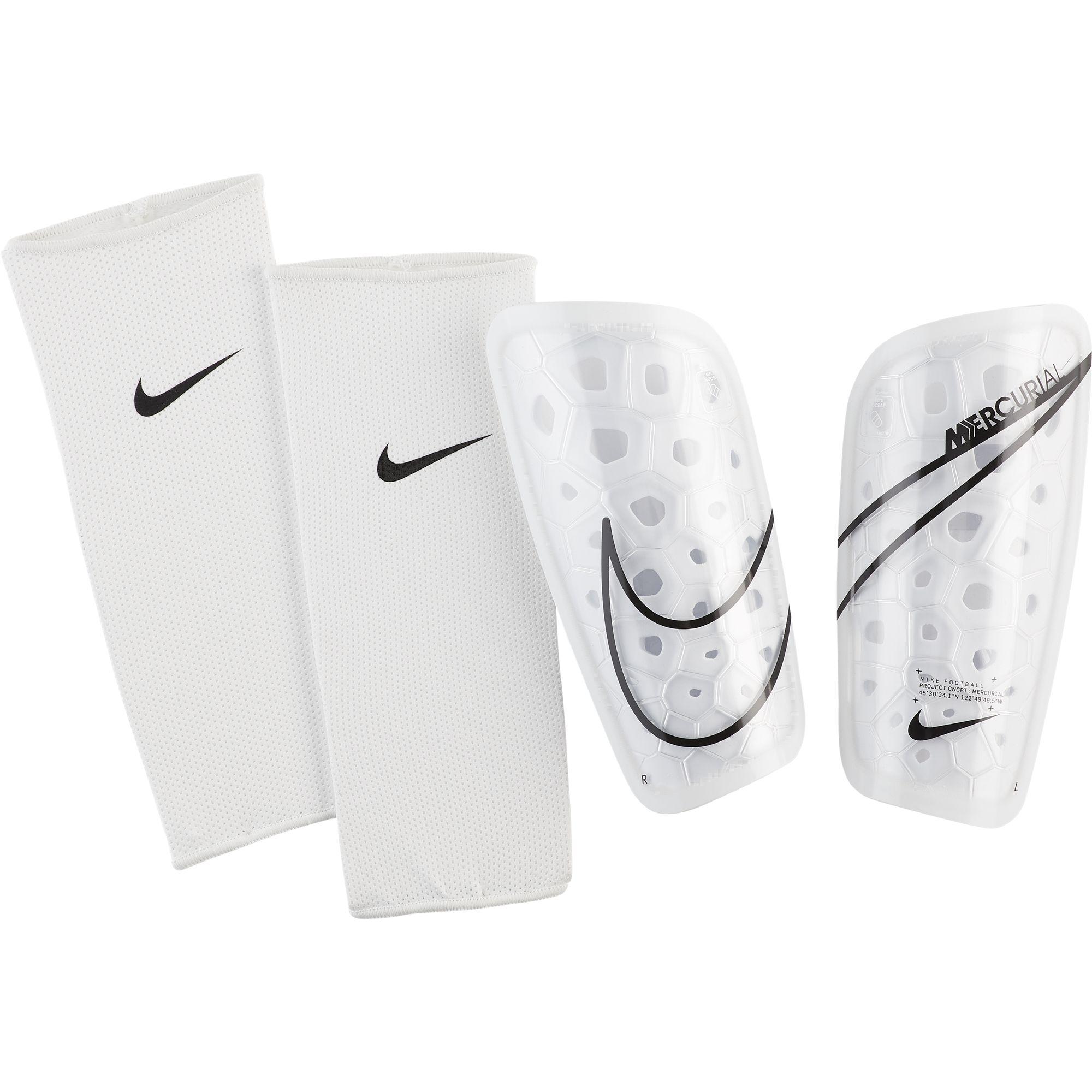 Ochraniacze piłkarskie Nike Merc LT GRD S biało czarne SP2120 104