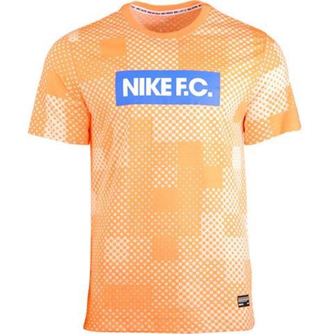 Koszulka męska Nike FC Dry Tee Seasonal Block pomarańczowa